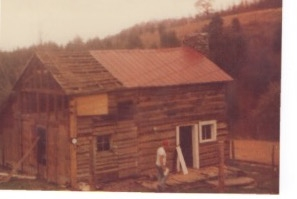 Early photo of cabin
