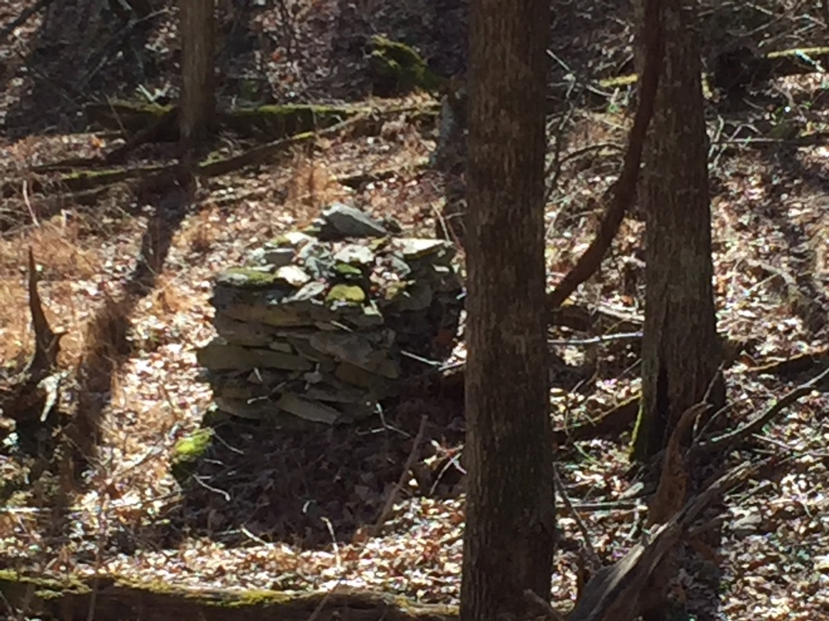 Stacked stone on the ridge